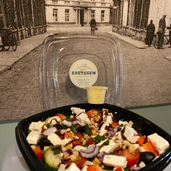 Griekse Salade (veggie) Met Fetakaas.